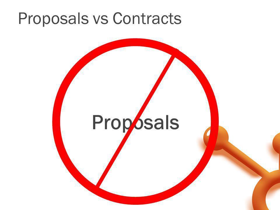 Proposals vs Contracts