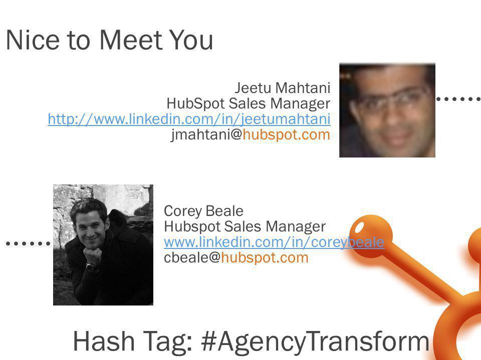Hash Tag: #AgencyTransform