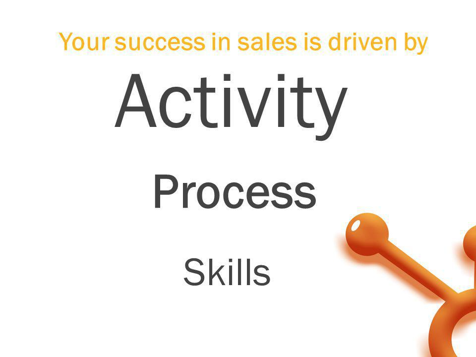 Your success in sales is driven by