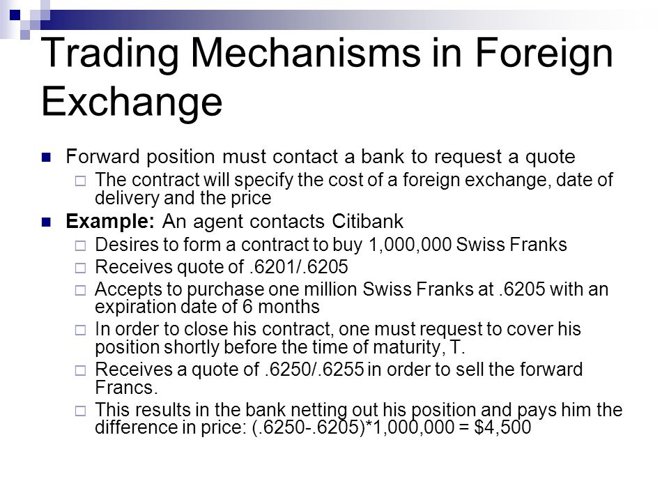 Trading Mechanisms in Foreign Exchange