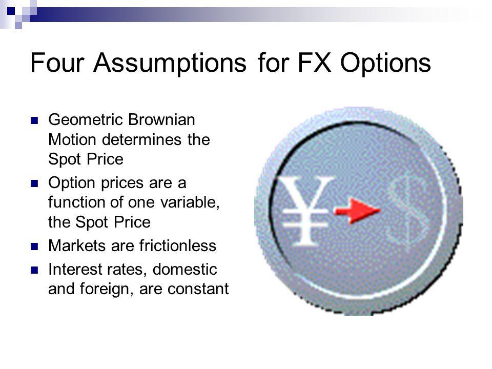 Four Assumptions for FX Options