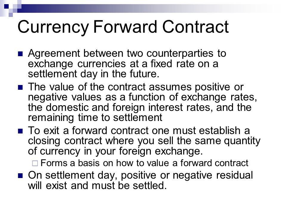 Currency Forward Contract