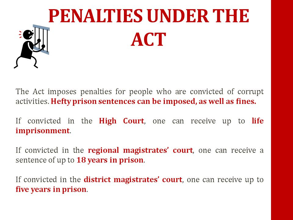 PENALTIES UNDER THE ACT
