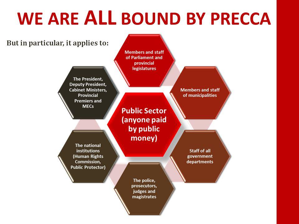 WE ARE ALL BOUND BY PRECCA