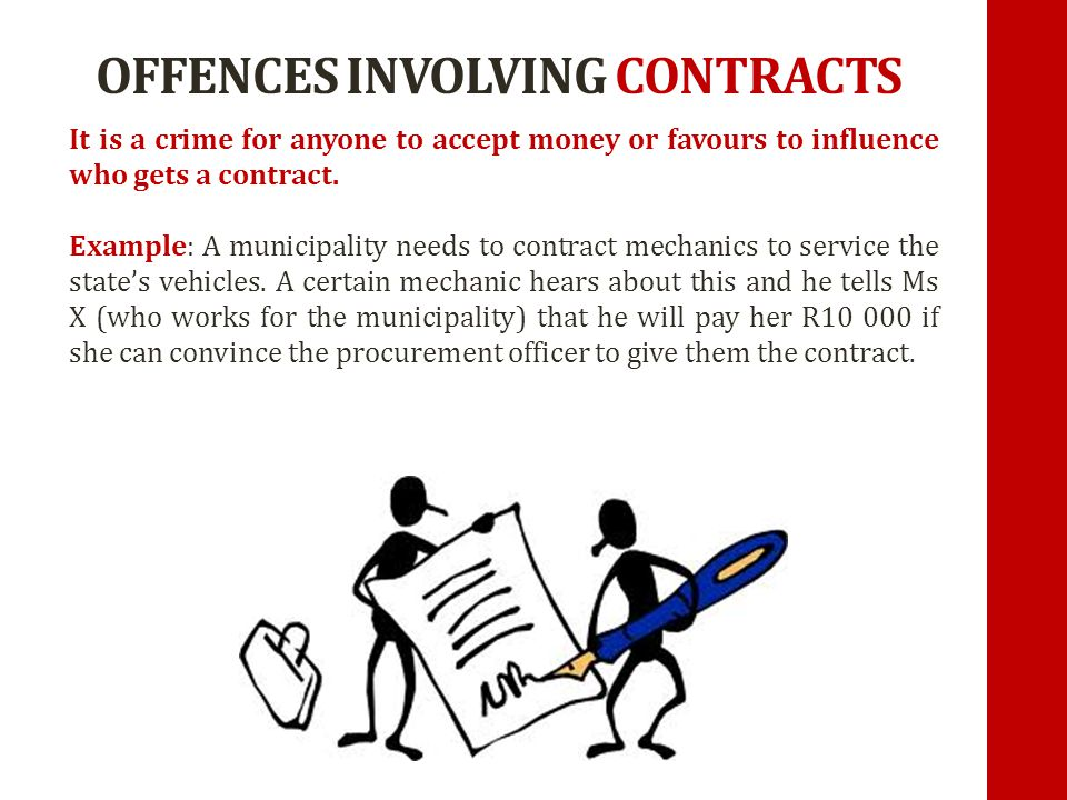 OFFENCES INVOLVING CONTRACTS