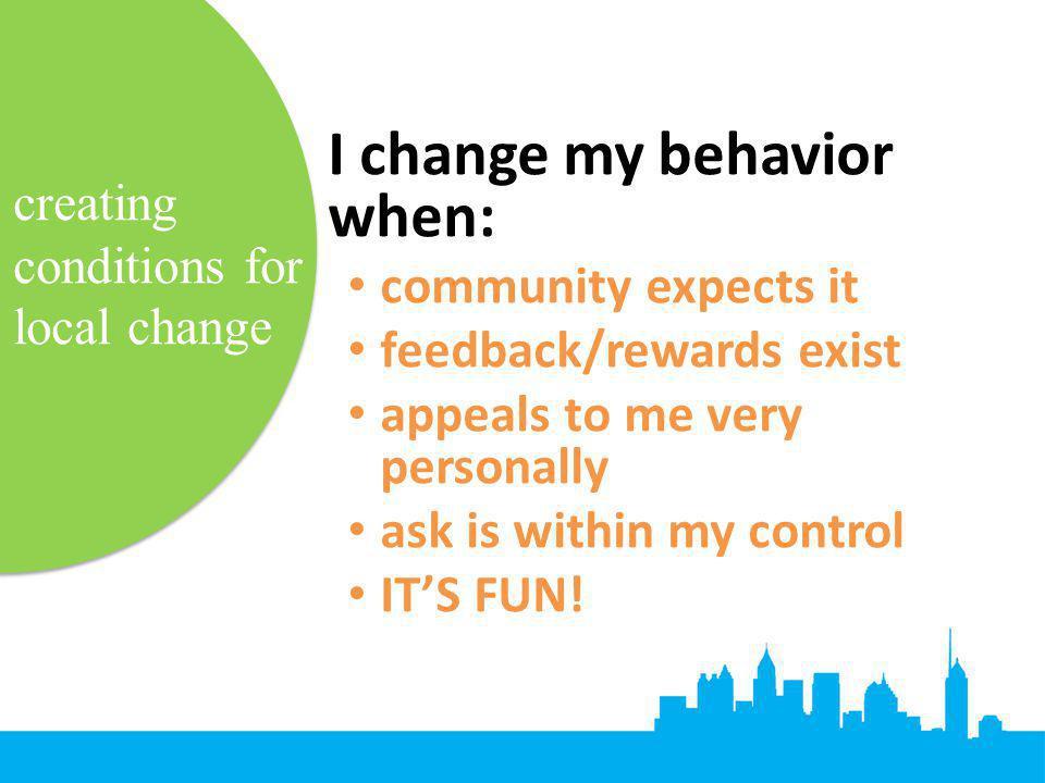 I change my behavior when: