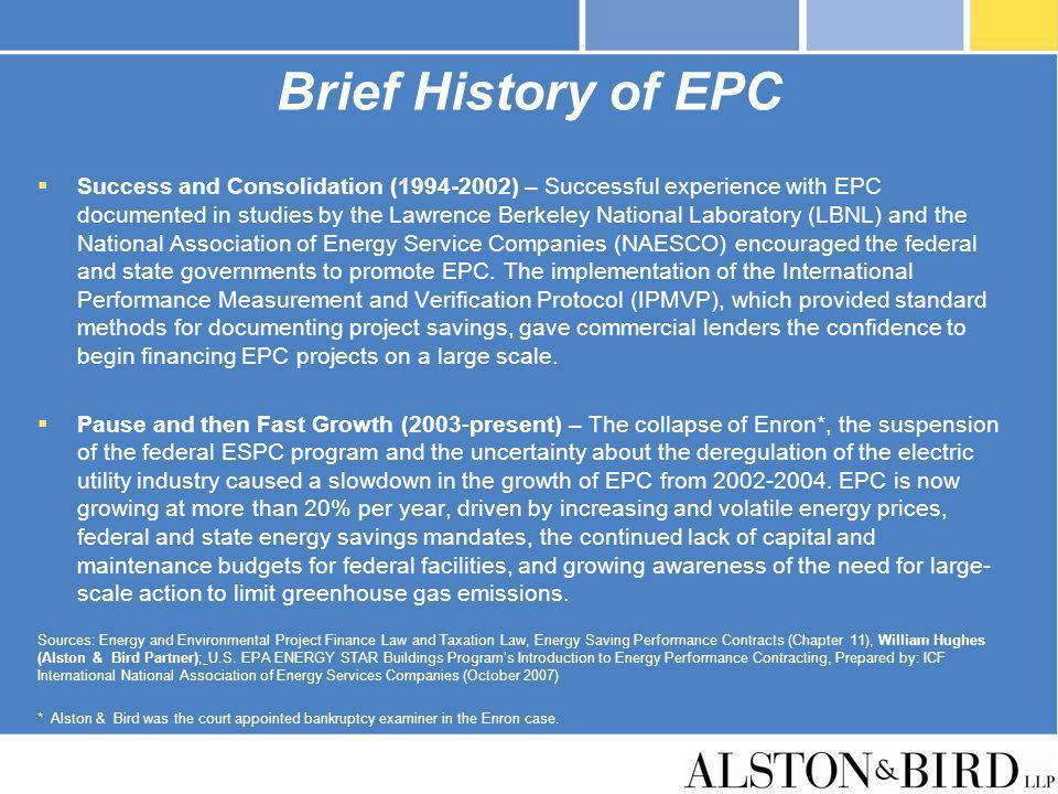 Brief History of EPC