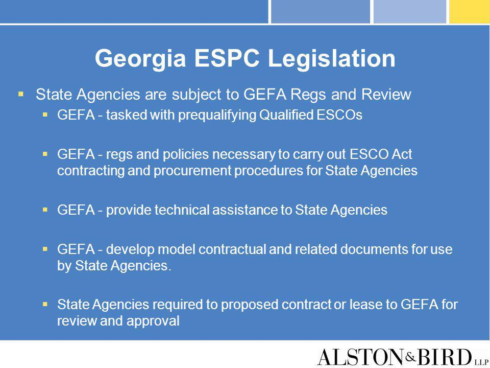 Georgia ESPC Legislation