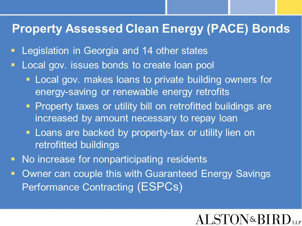Property Assessed Clean Energy (PACE) Bonds