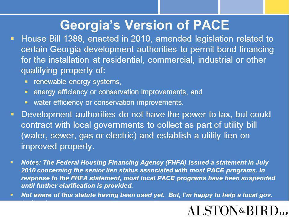 Georgia's Version of PACE