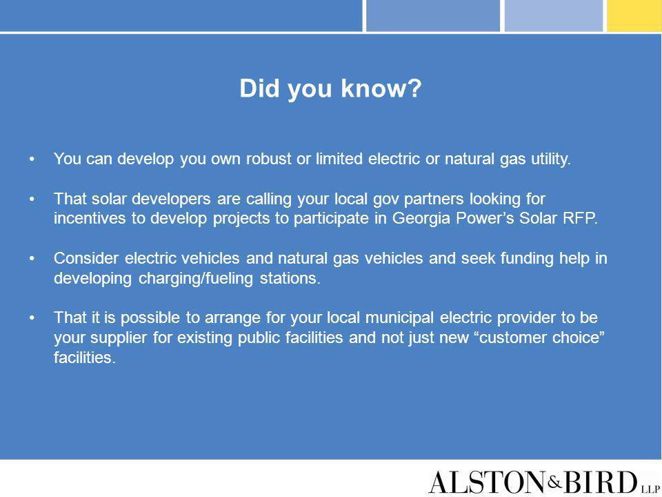 Did you know You can develop you own robust or limited electric or natural gas utility.