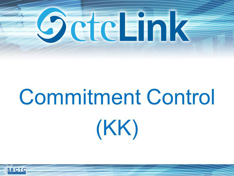 Commitment Control (KK)