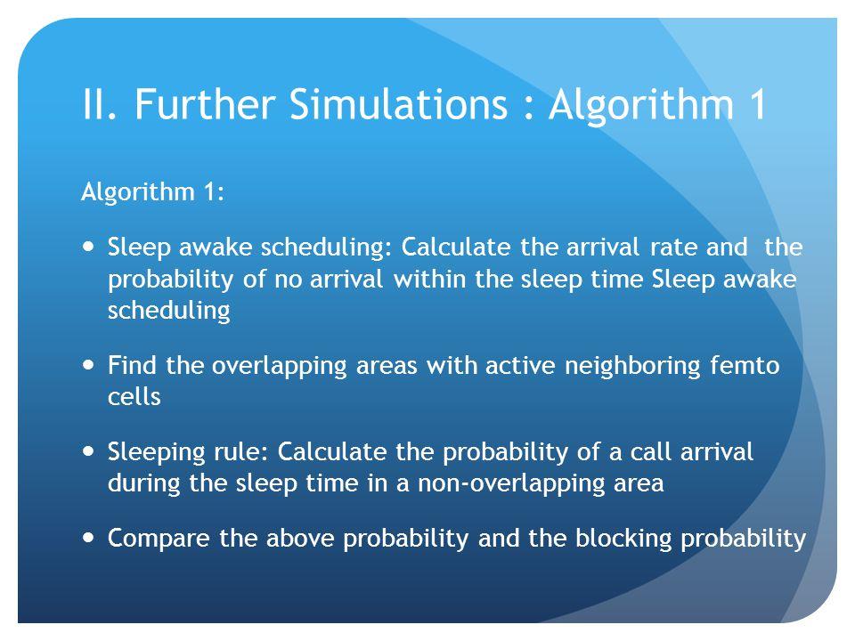II. Further Simulations : Algorithm 1