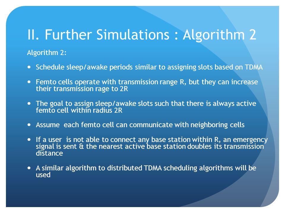 II. Further Simulations : Algorithm 2