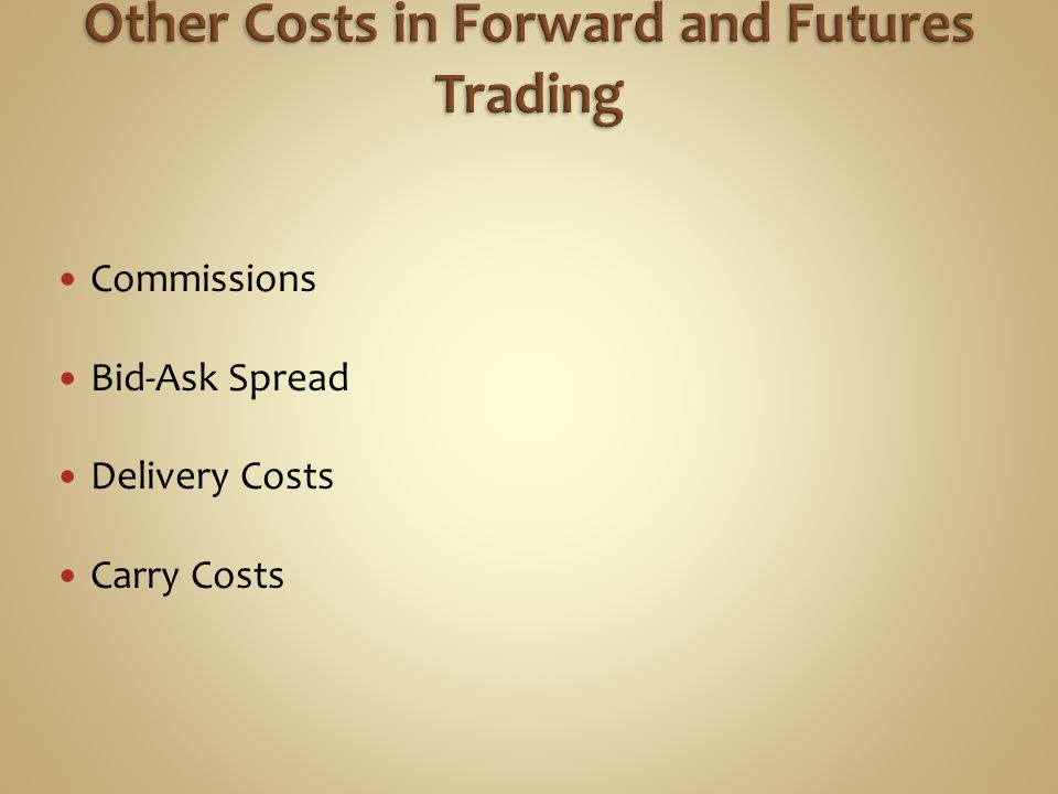 Other Costs in Forward and Futures Trading
