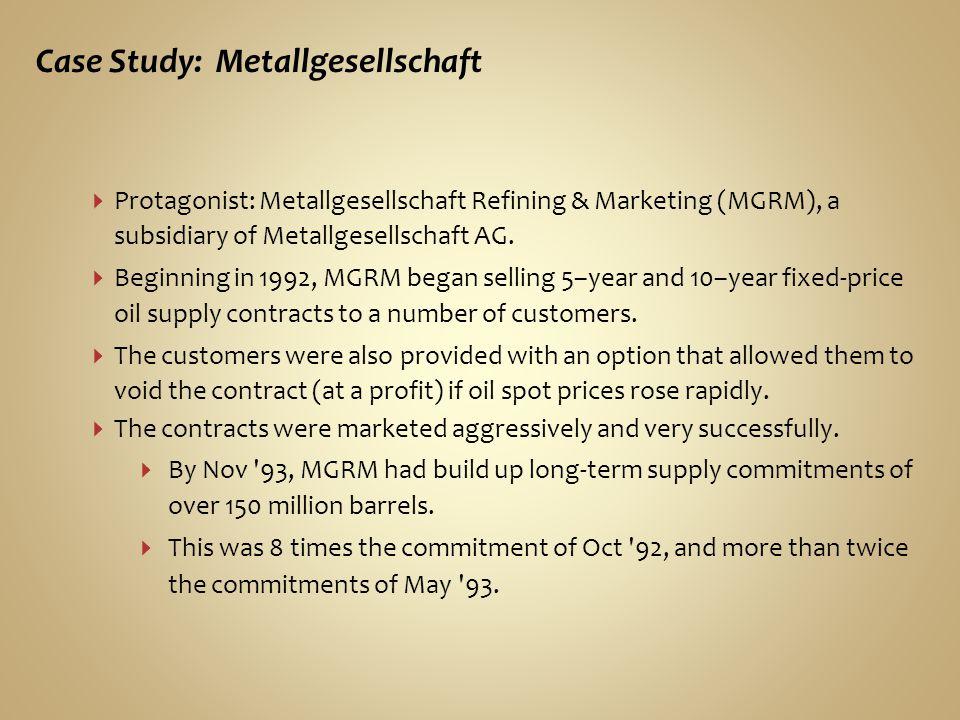 Case Study: Metallgesellschaft
