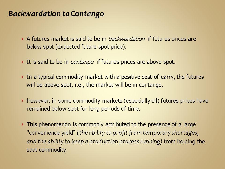 Backwardation to Contango