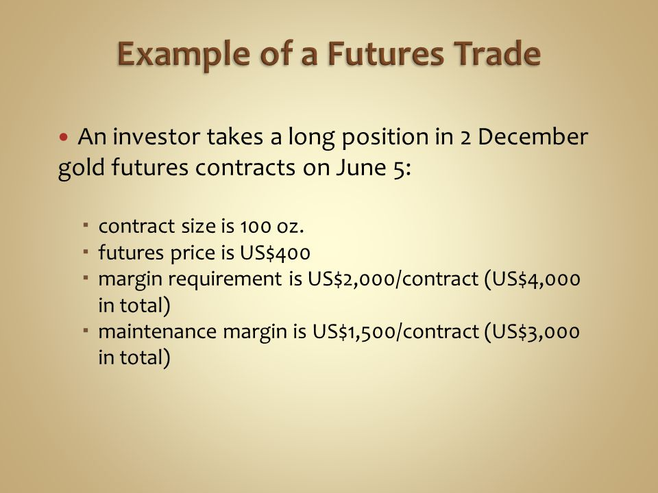 Example of a Futures Trade
