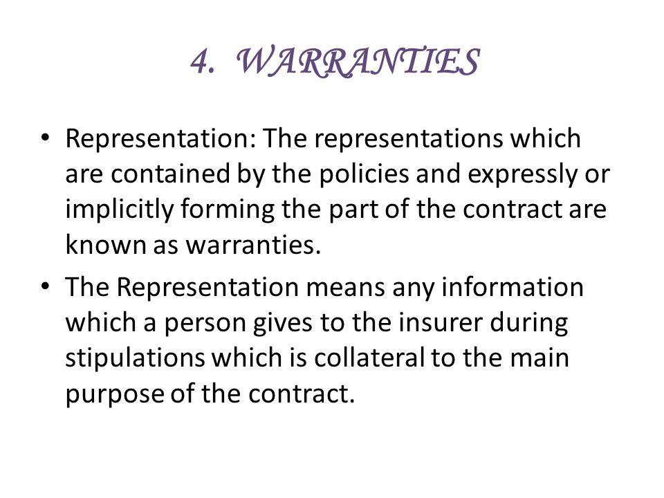 4. WARRANTIES