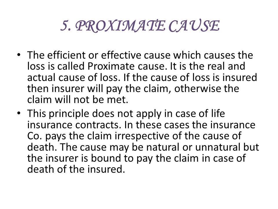 5. PROXIMATE CAUSE