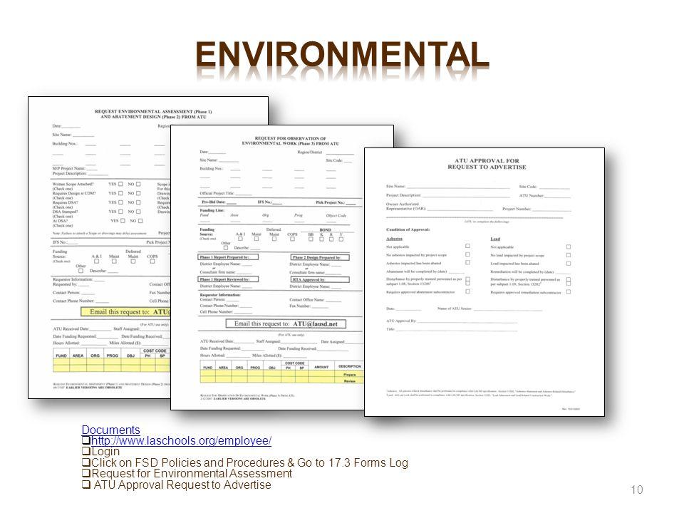 environmental Documents http://www.laschools.org/employee/ Login