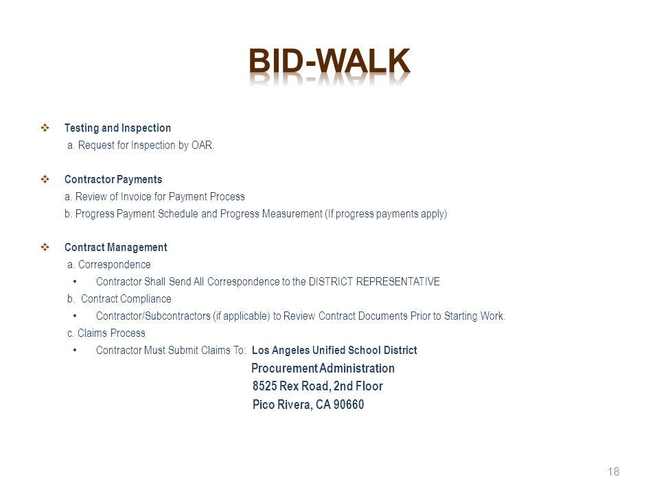 Bid-walk 8525 Rex Road, 2nd Floor Pico Rivera, CA 90660