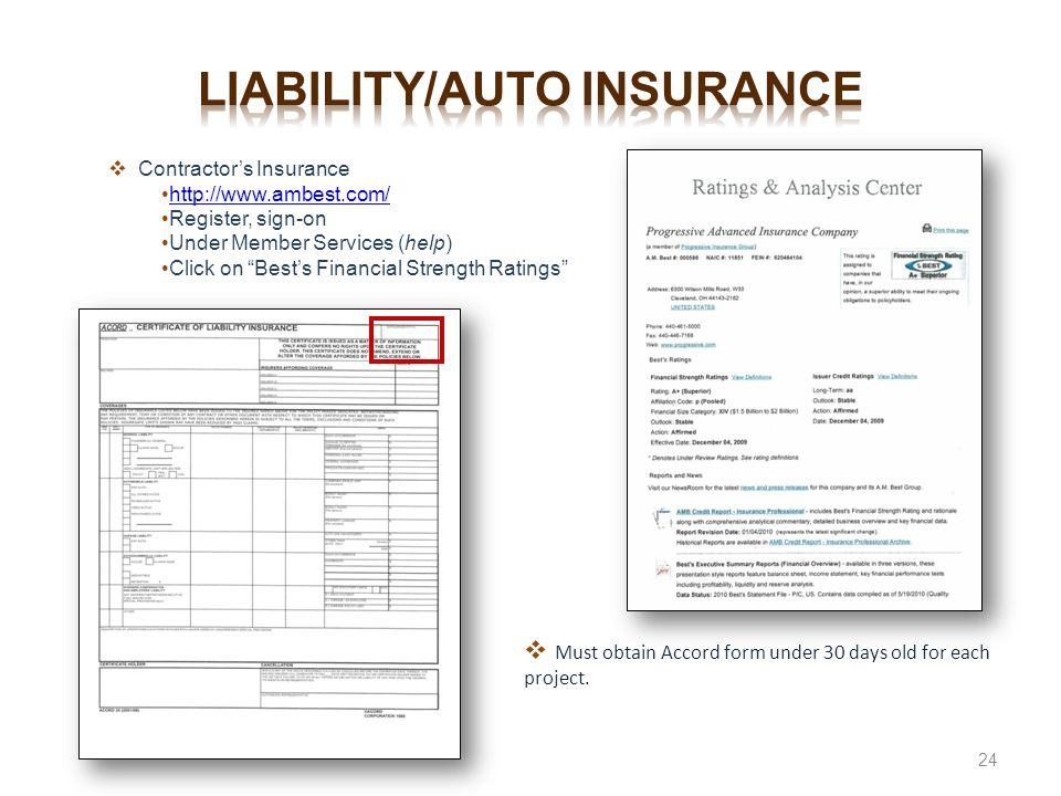 Liability/auto insurance
