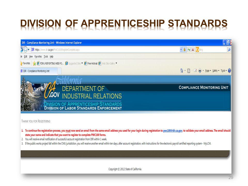 Division of apprenticeship standards