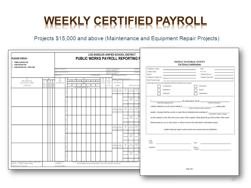 Conducted for Project Execution ppt download – Certified Payroll Form