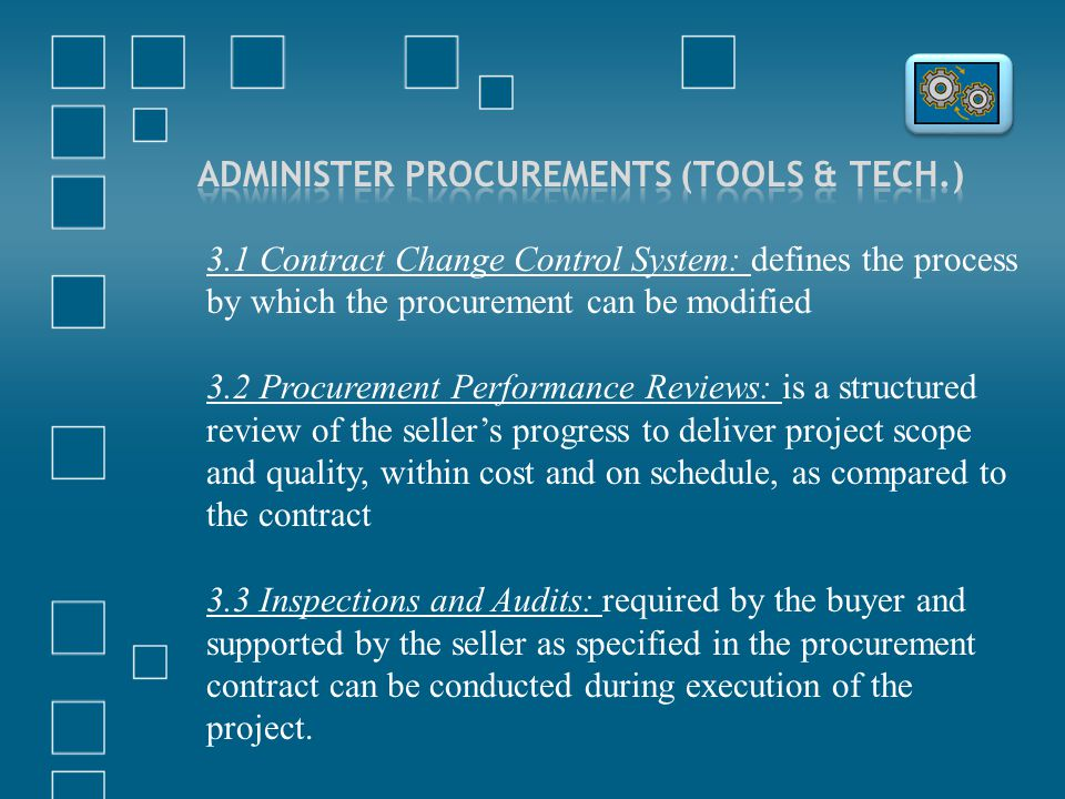 Administer Procurements (Tools & Tech.)