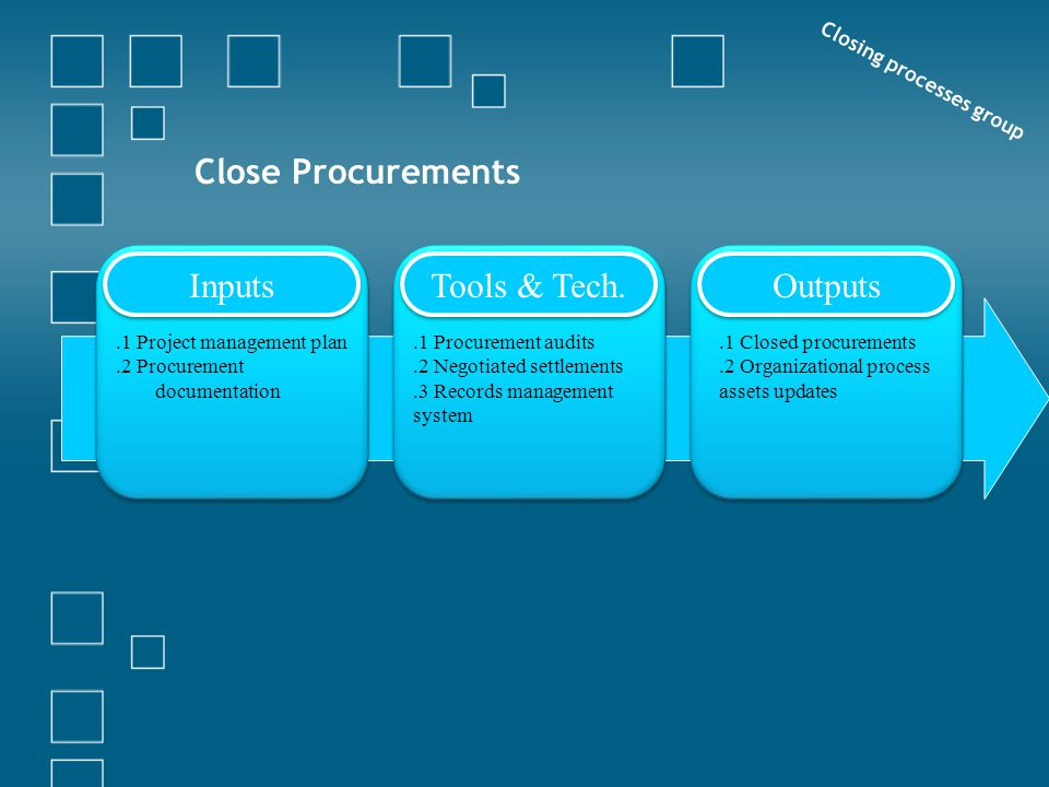 Closing processes group