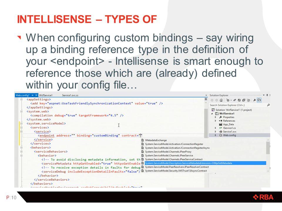 Intellisense – Types of
