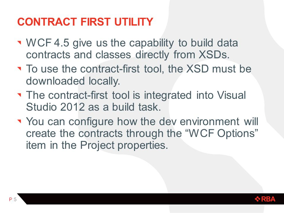 Contract first utility