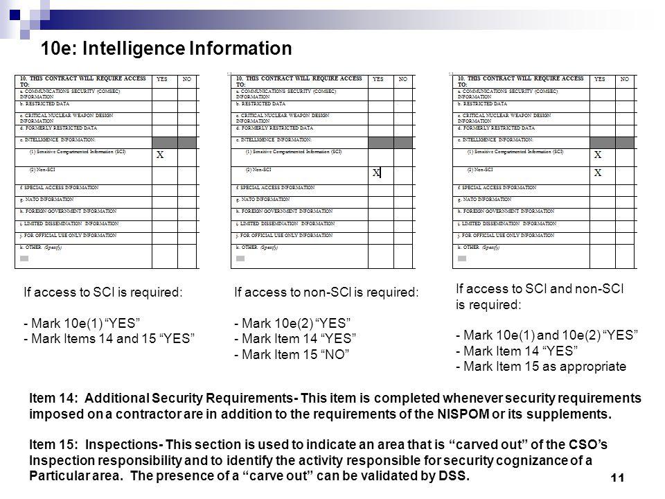 10e: Intelligence Information