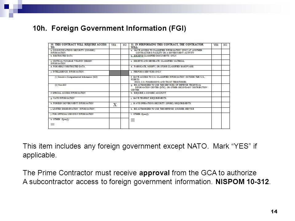 10h. Foreign Government Information (FGI)