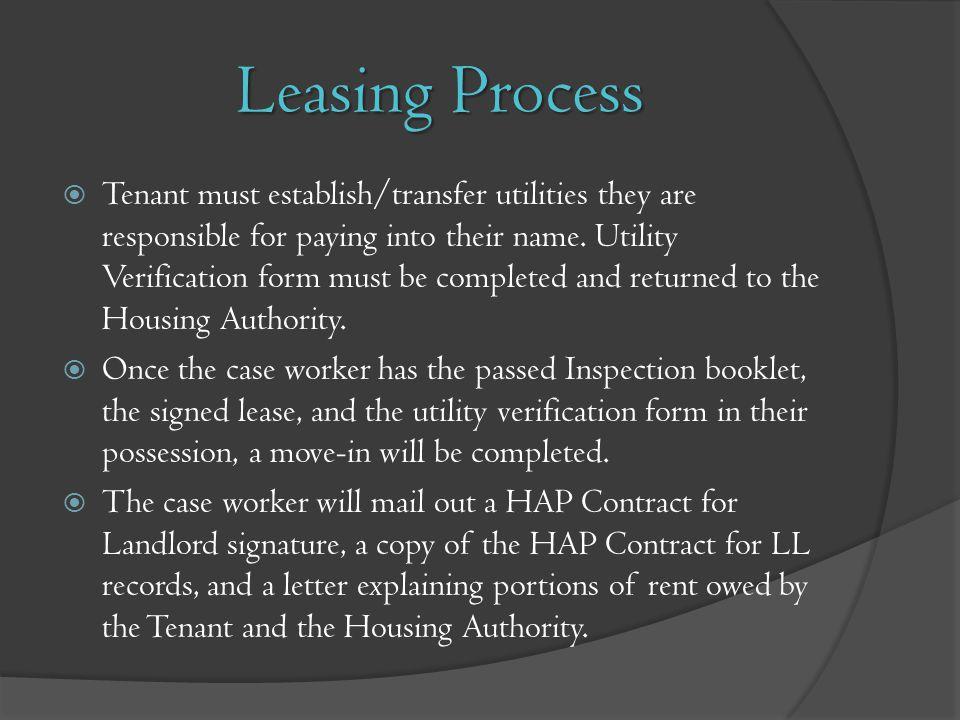 Leasing Process