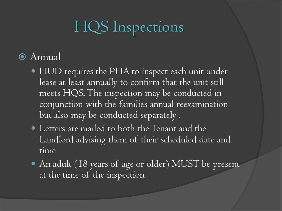 HQS Inspections Annual