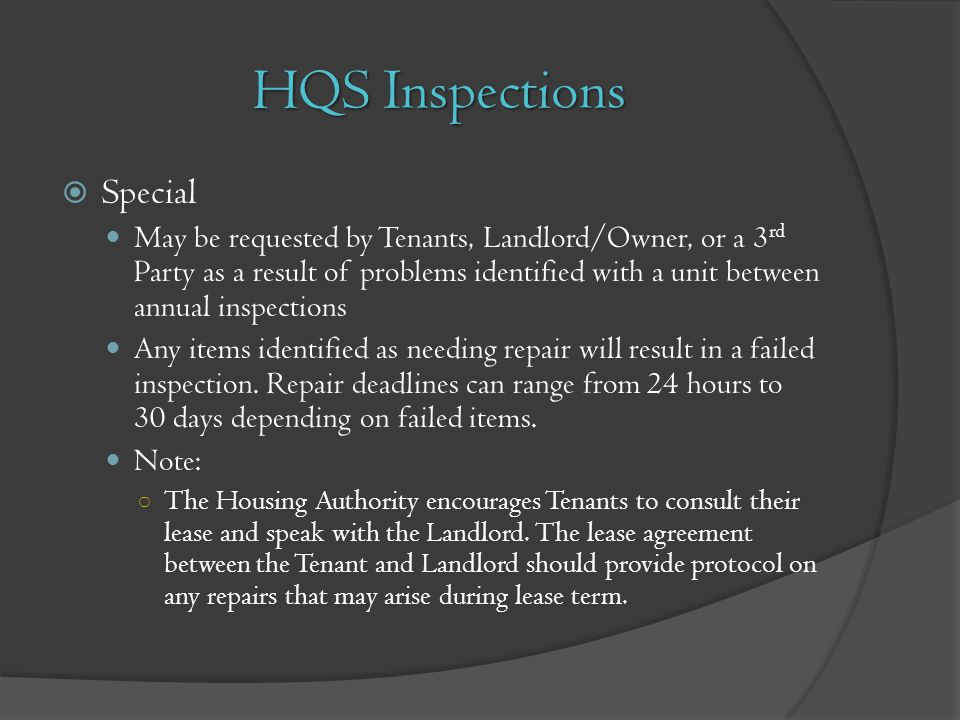 HQS Inspections Special