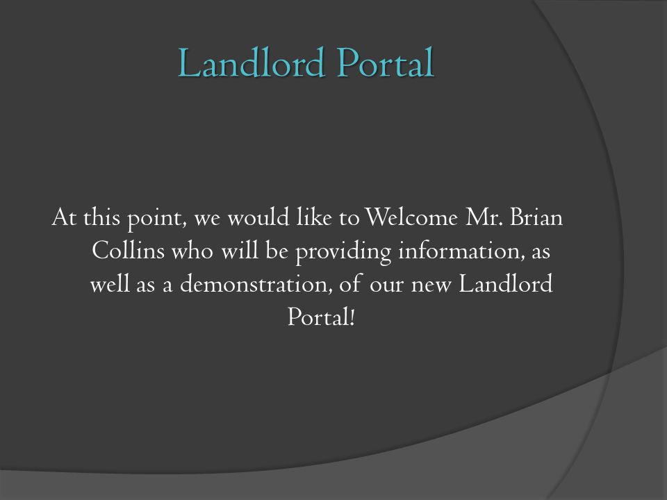 Landlord Portal