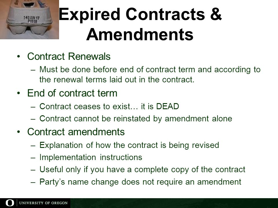 Expired Contracts & Amendments