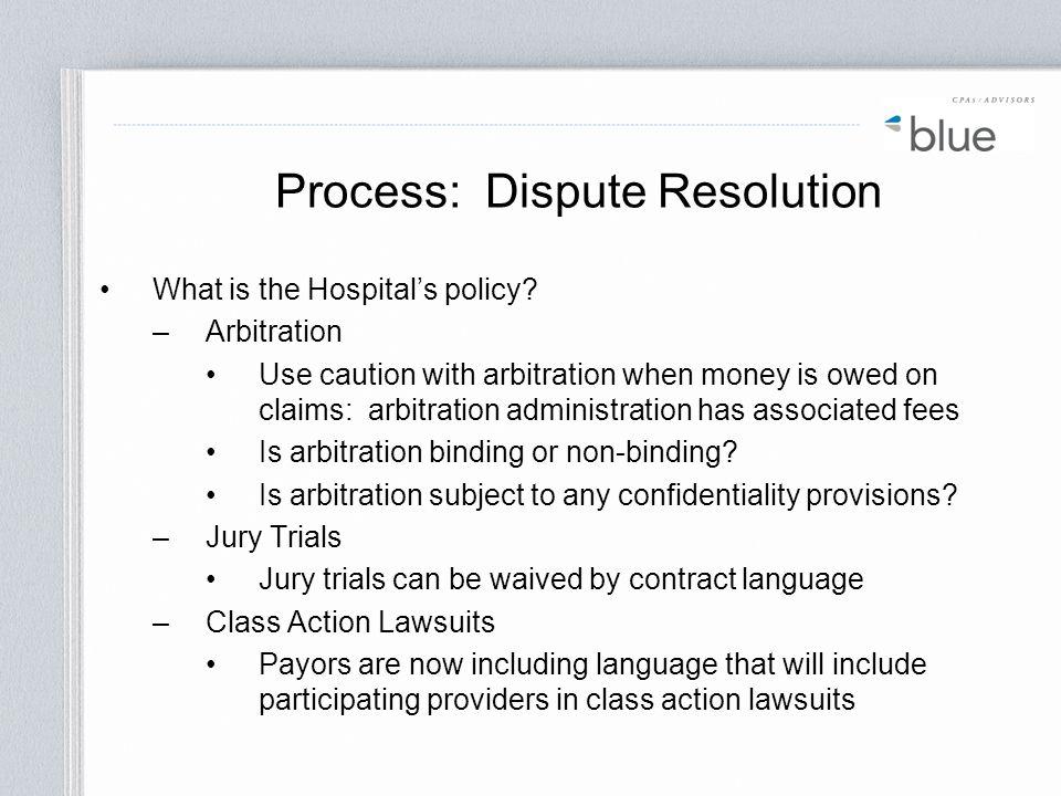 Process: Dispute Resolution