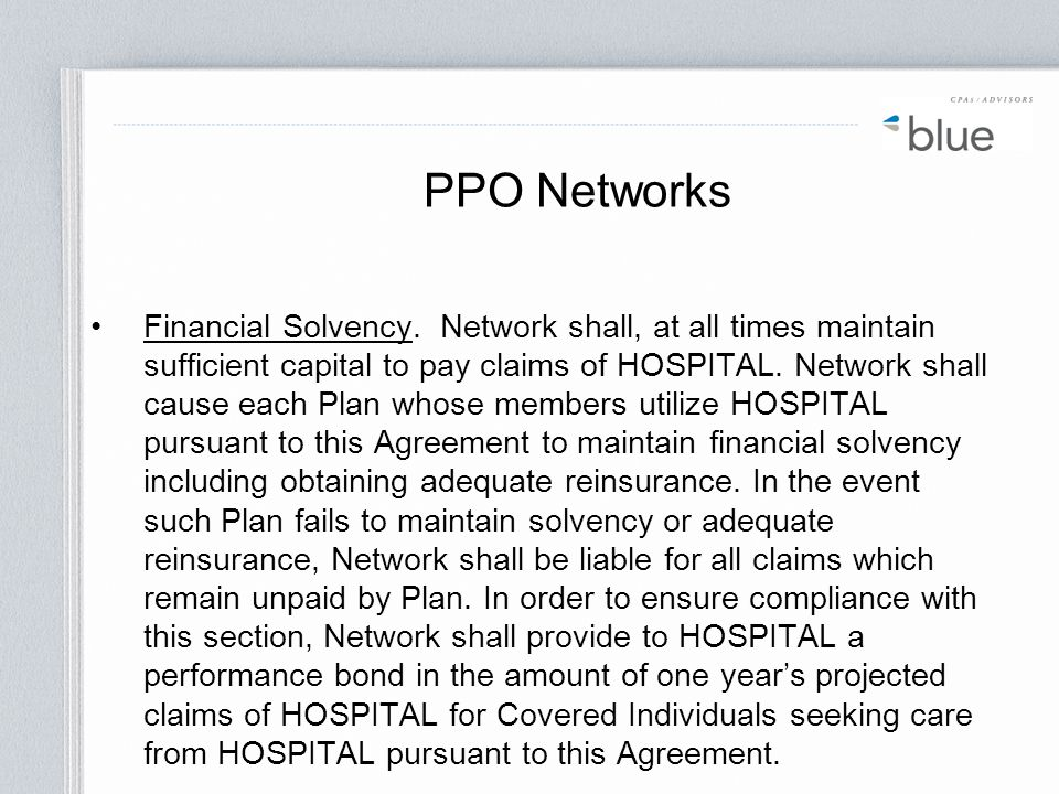 PPO Networks
