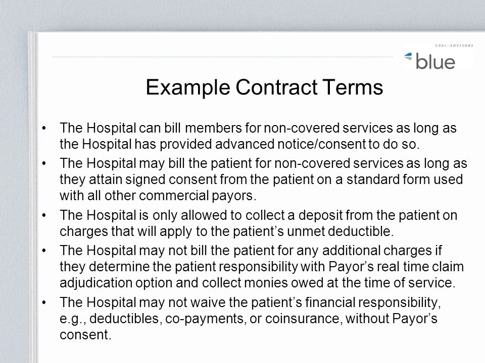 Example Contract Terms