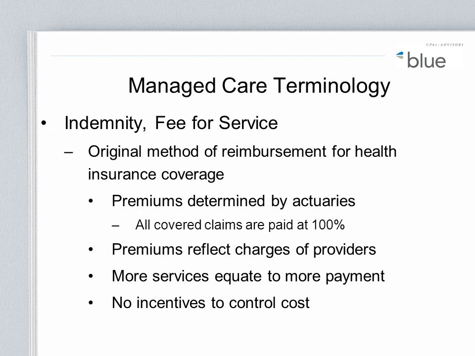 Managed Care Terminology