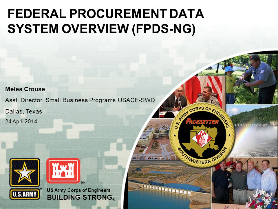 FEDERAL PROCUREMENT DATA SYSTEM OVERVIEW (FPDS-NG)