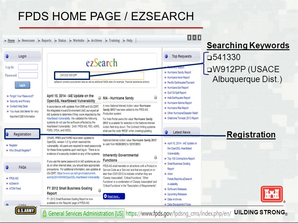 FPDS HOME PAGE / EZSEARCH
