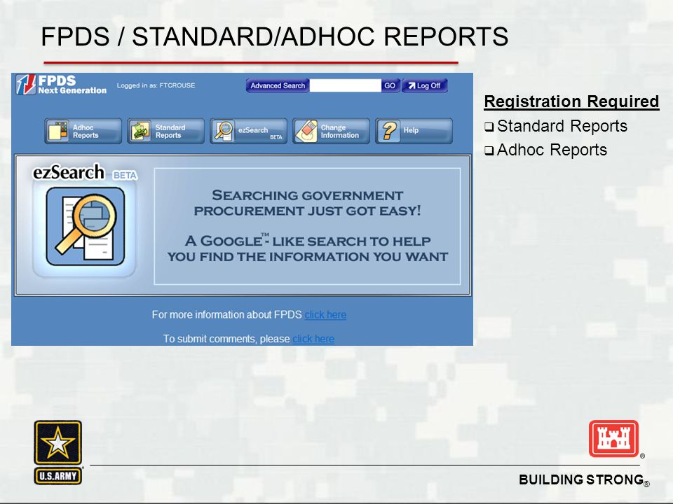 FPDS / STANDARD/ADHOC REPORTS