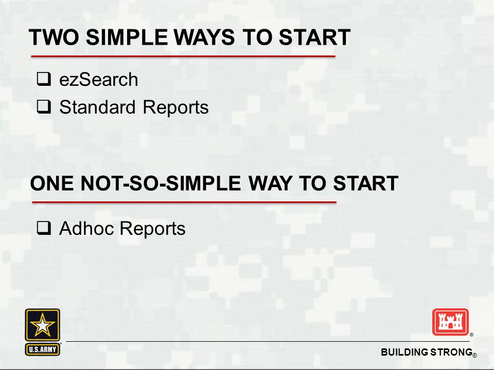 TWO SIMPLE WAYS TO START