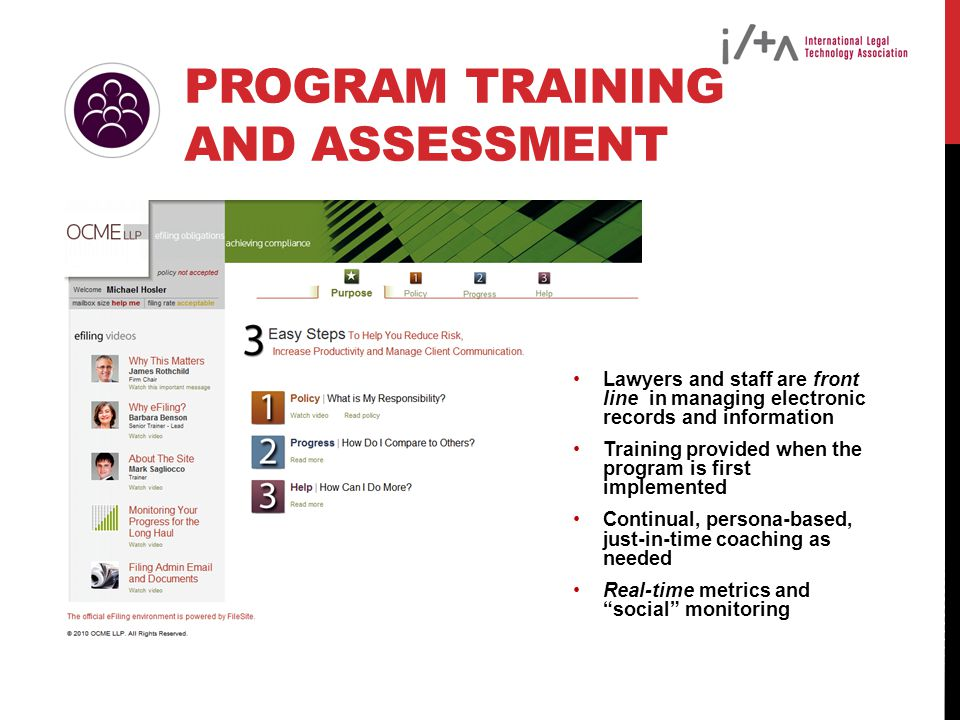Program Training and Assessment
