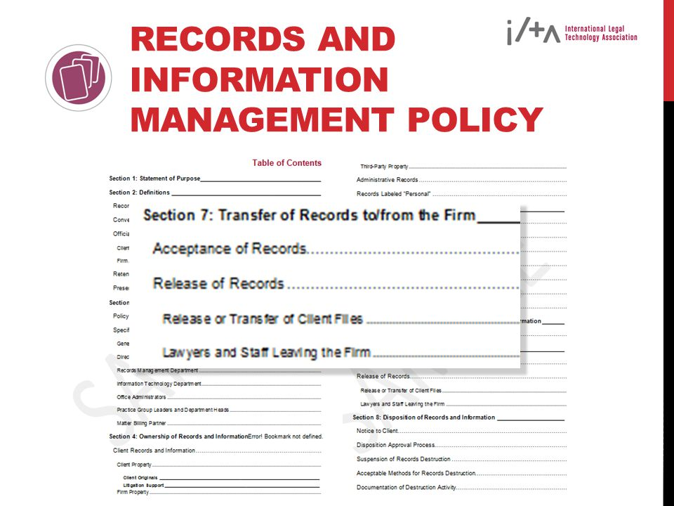 Records and Information Management Policy
